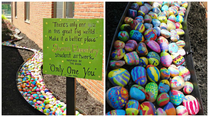 One Rock Per Student Leads to a Beautiful Elementary School Art Project