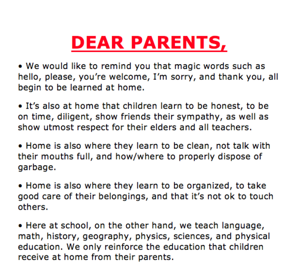 School Believes Parents Build Their Child's Character Before Sending Them to School